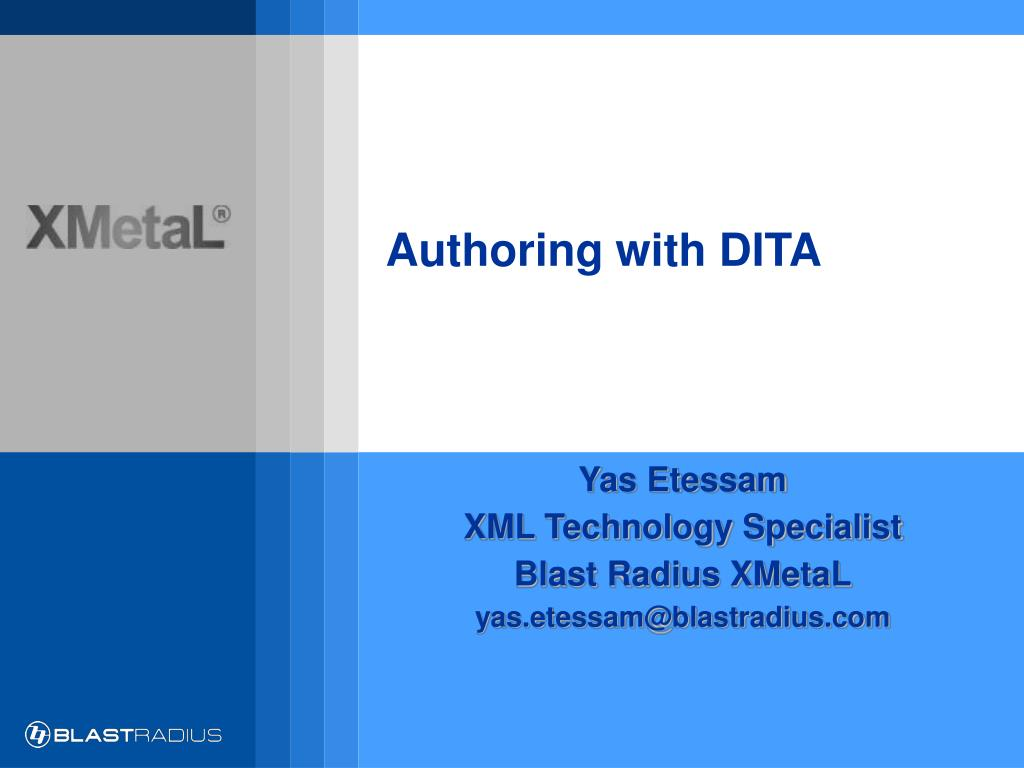 authoring with dita l.