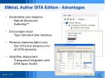 xmetal author dita edition advantages