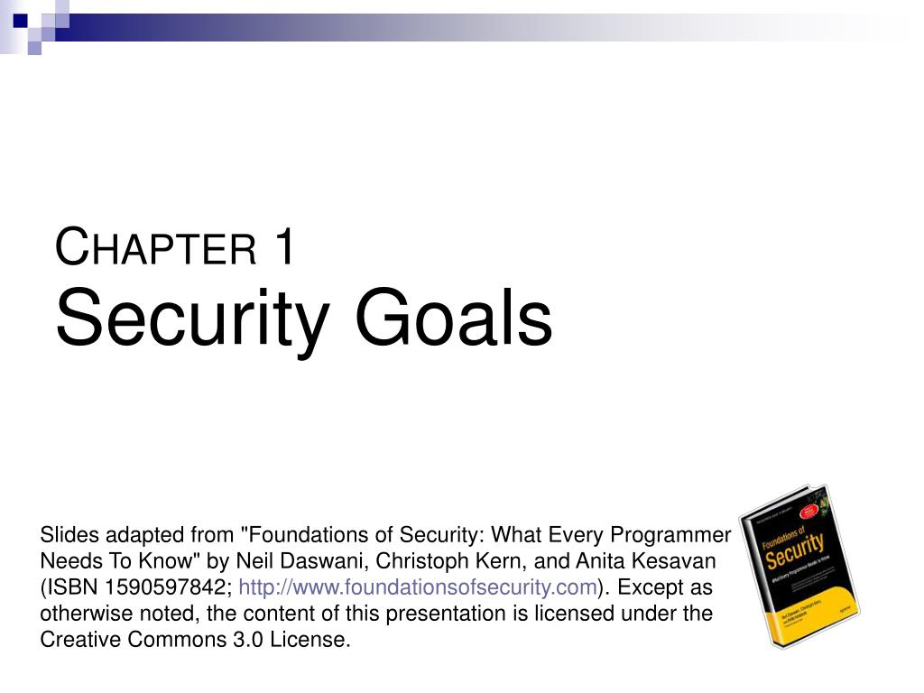 c hapter 1 security goals l.