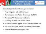 ms exchange and open platform benefits