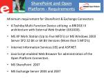 sharepoint and open platform requirements