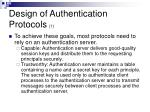 design of authentication protocols 17