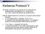 kerberos protocol v17