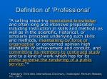 definition of professional