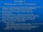 example 1 relying upon other professions10