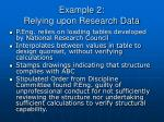 example 2 relying upon research data