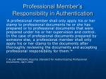 professional member s responsibility in authentication