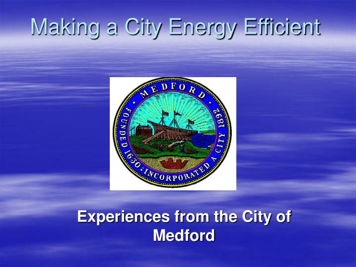 Making a city energy efficient