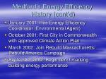 medford s energy efficiency history cont d