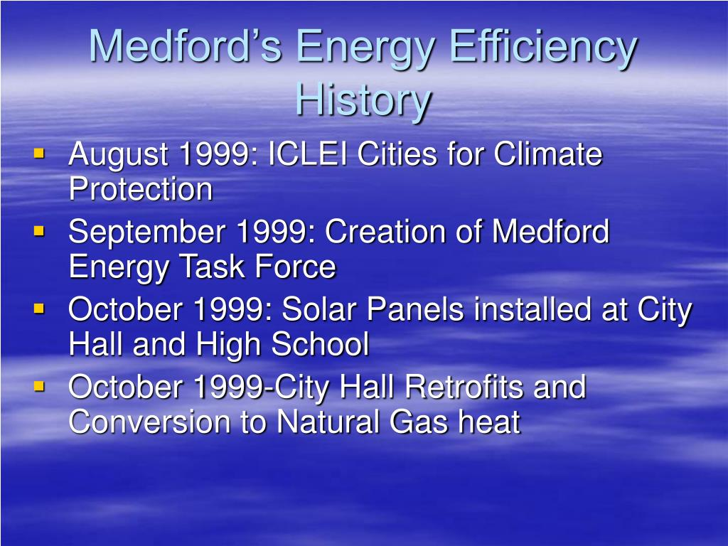 Medford's Energy Efficiency History