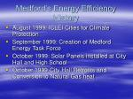 medford s energy efficiency history