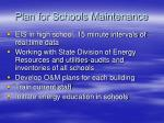 plan for schools maintenance