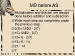 md before as