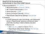 webfocus authentication authenticate to sun one ldap server
