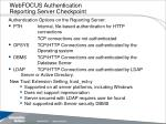 webfocus authentication reporting server checkpoint
