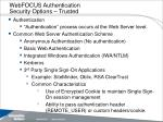 webfocus authentication security options trusted