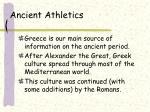 ancient athletics