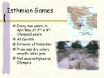 isthmian games