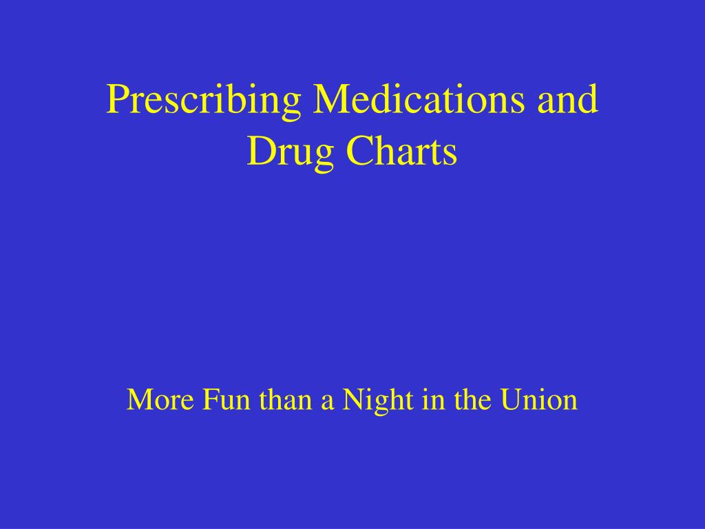prescribing medications and drug charts l.