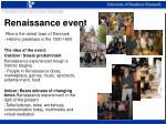 renaissance event