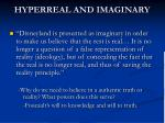 hyperreal and imaginary