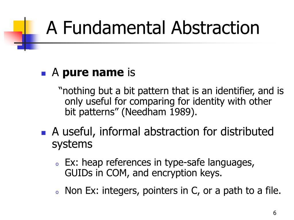 A Fundamental Abstraction