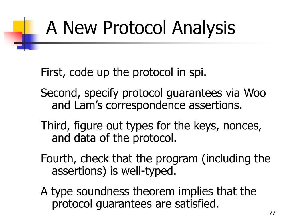 A New Protocol Analysis