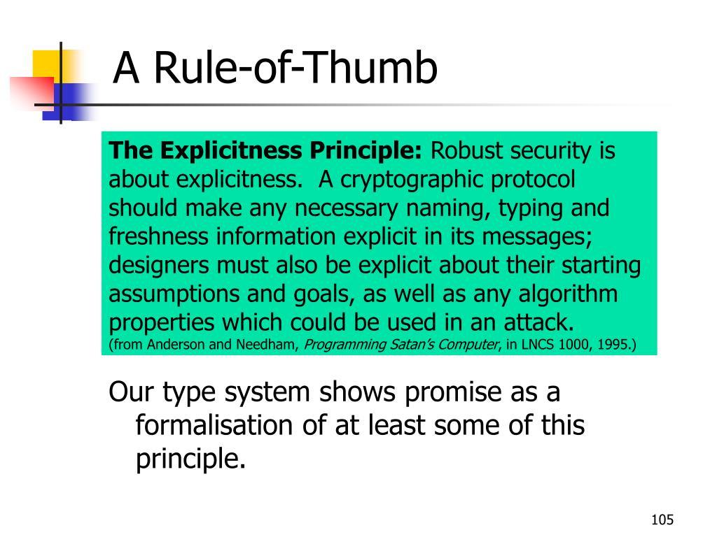 A Rule-of-Thumb