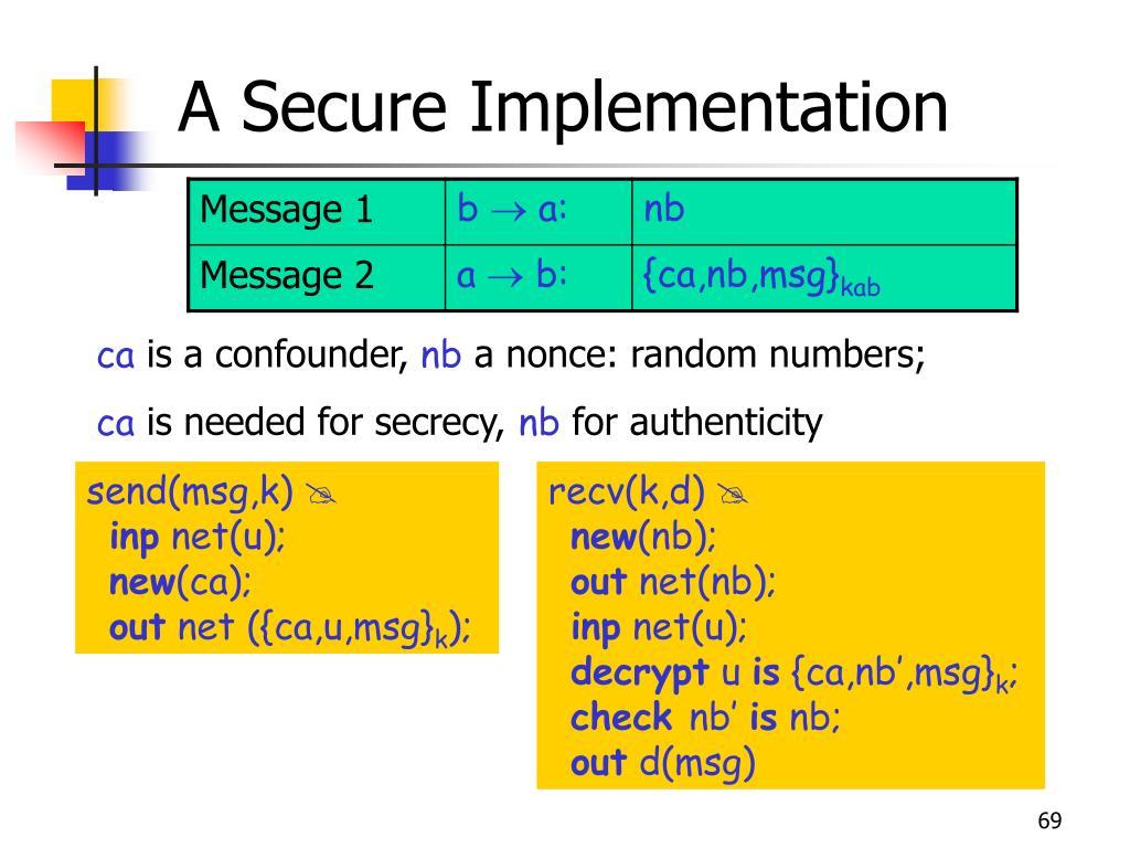 A Secure Implementation