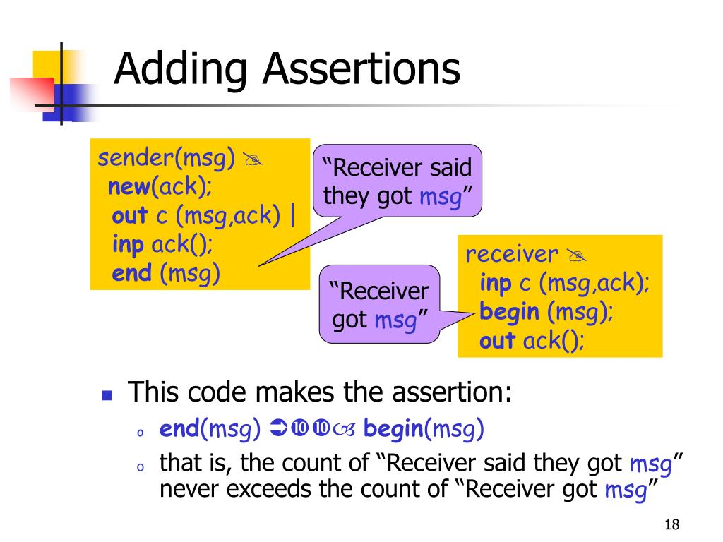 Adding Assertions