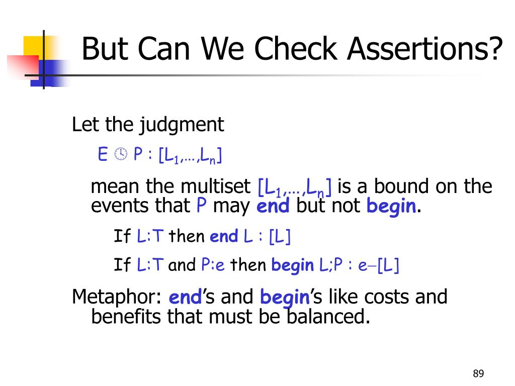 But Can We Check Assertions?