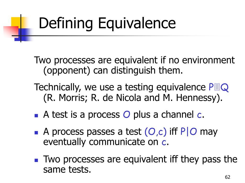 Defining Equivalence