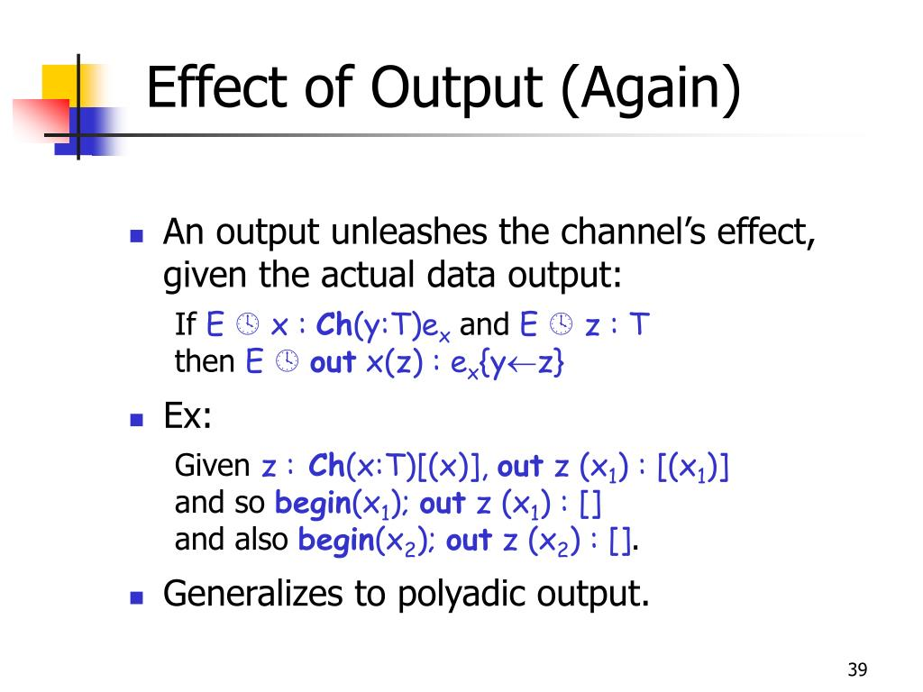 Effect of Output (Again)