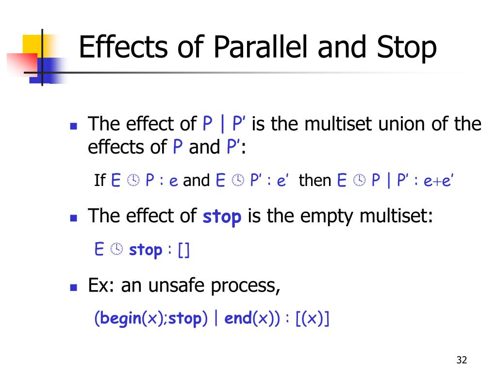 Effects of Parallel and Stop