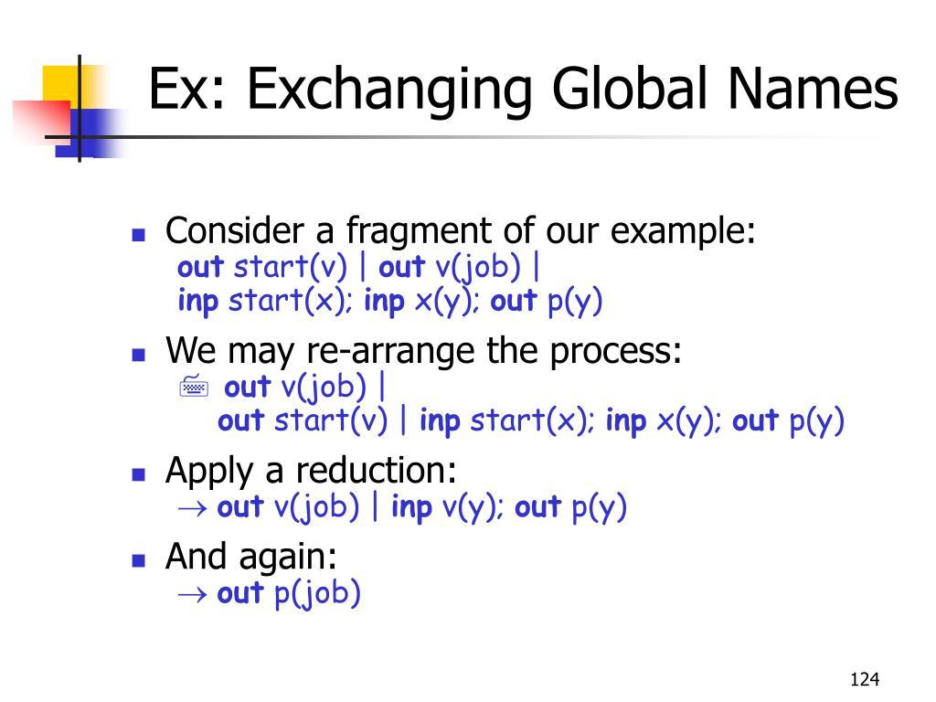 Ex: Exchanging Global Names
