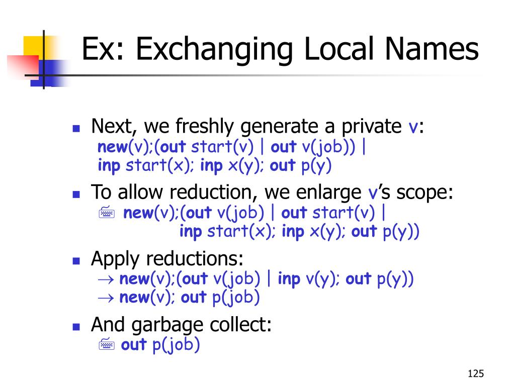 Ex: Exchanging Local Names