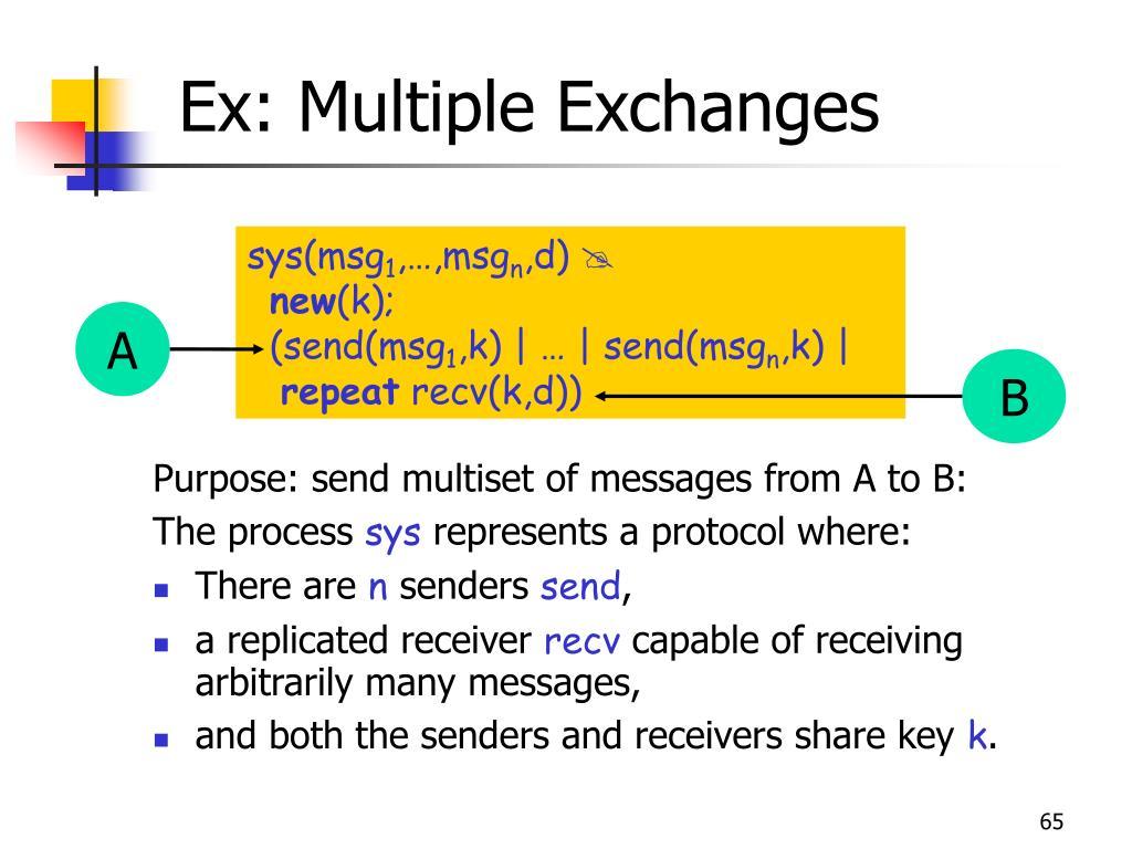 Ex: Multiple Exchanges