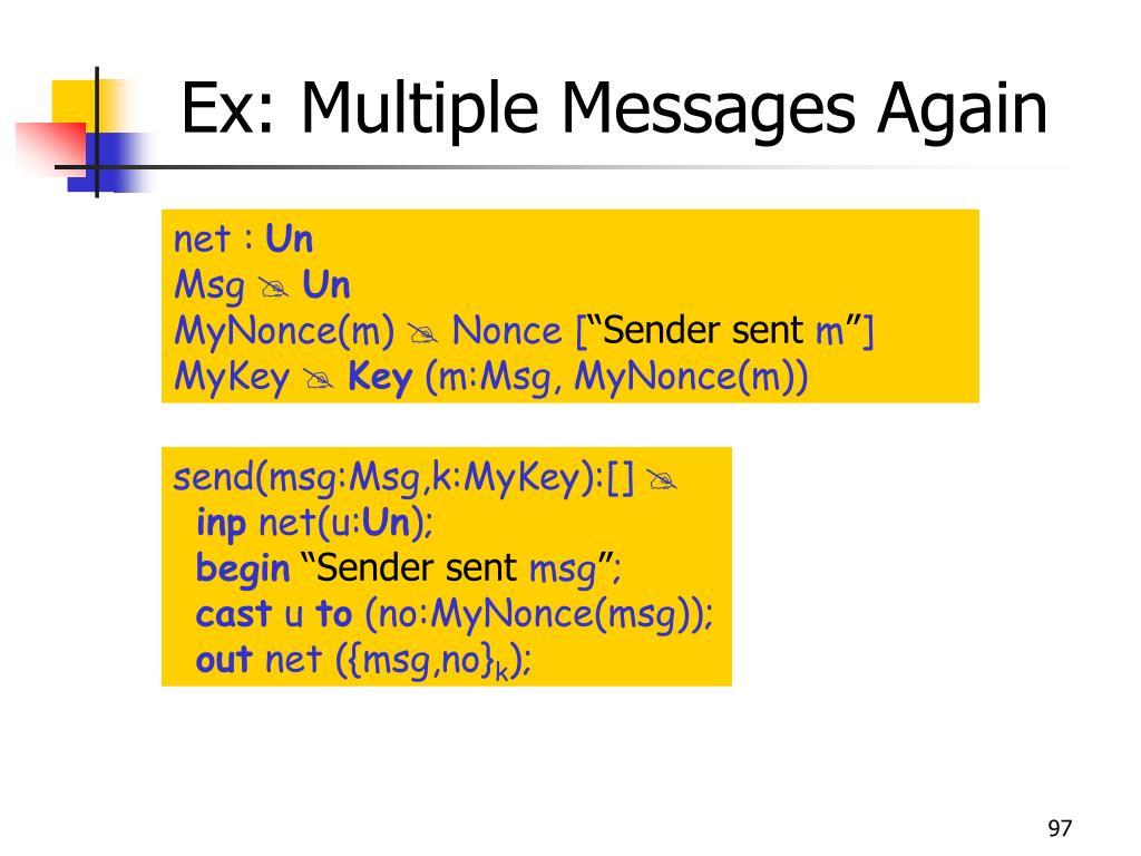 Ex: Multiple Messages Again
