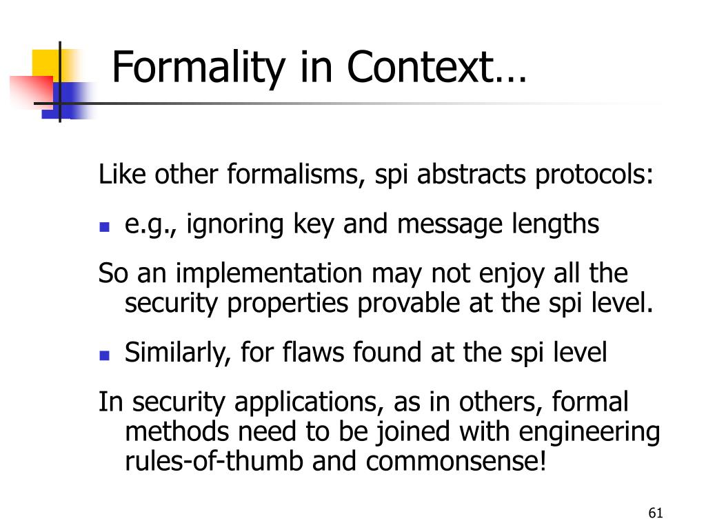 Formality in Context…