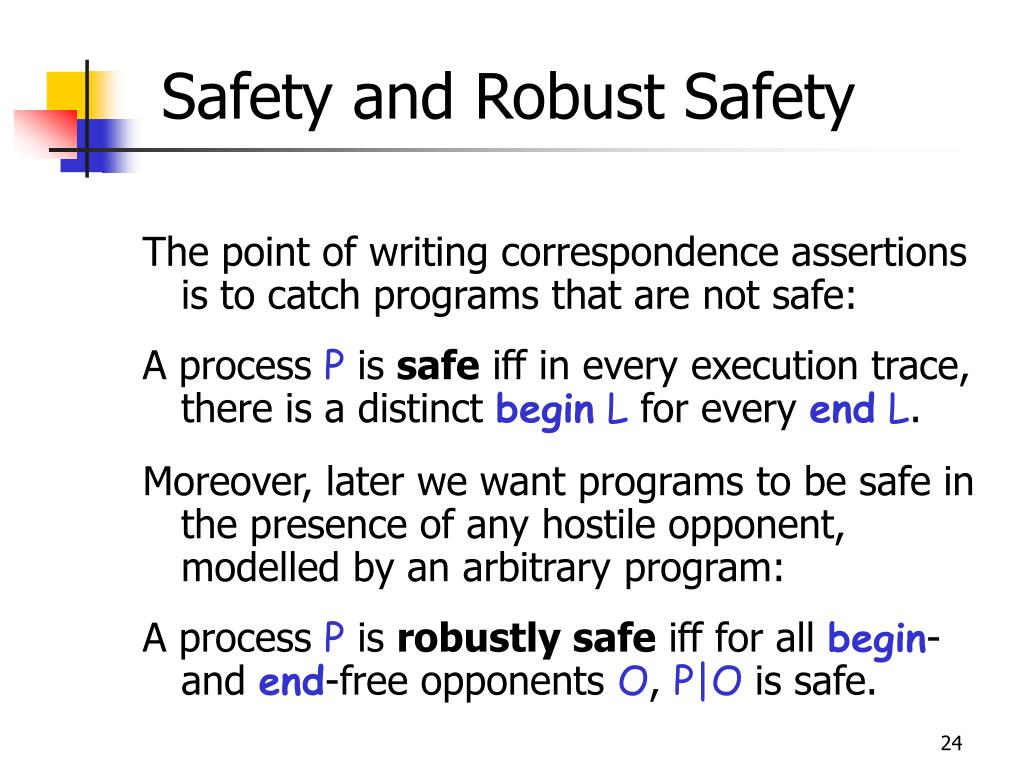 Safety and Robust Safety
