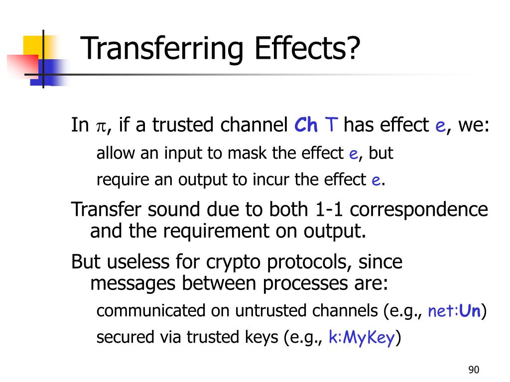 Transferring Effects?