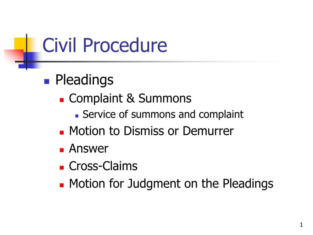 civil procedure l.