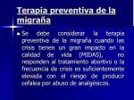 terapia preventiva de la migra a