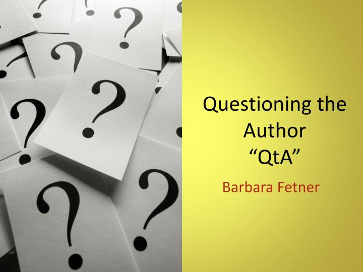 questioning the author qta n.