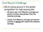 fort wayne s challenge