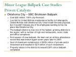 minor league ballpark case studies proven catalysts
