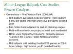 minor league ballpark case studies proven catalysts22