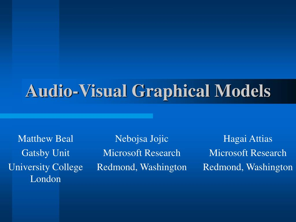 audio visual graphical models l.