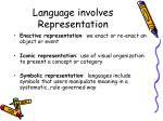 language involves representation