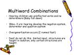 multiword combinations